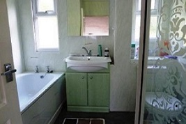 Bathroom with full size bath & walk in shower